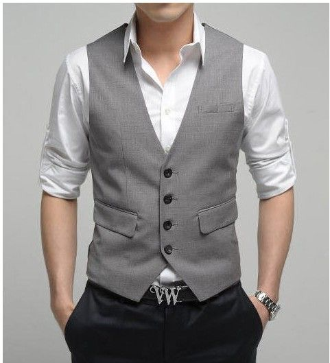 Top Design 2017 Grey Formal Business Mens Waistcoat Groomsmens Vest Wedding Prom Party Mens Vests Custom Made Casual Wear