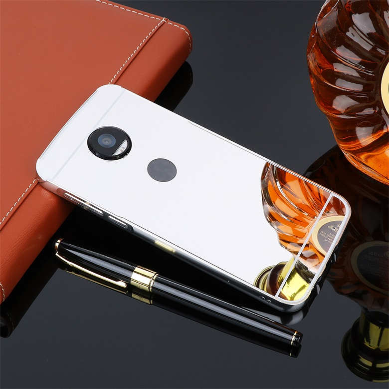 For Motorola Moto G5 G5S G4 Plus Aluminium Bumper Luxury Metal Case For Motorola Moto Z2 Z X Play X Force Mirror Cover Case