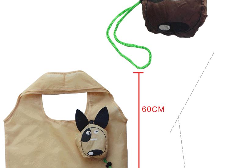 STANDARD  REUSABLE FOLDABLE SHOPPING CUTE ANIMAL  BAG BEACH SIZE 37cm*50cm