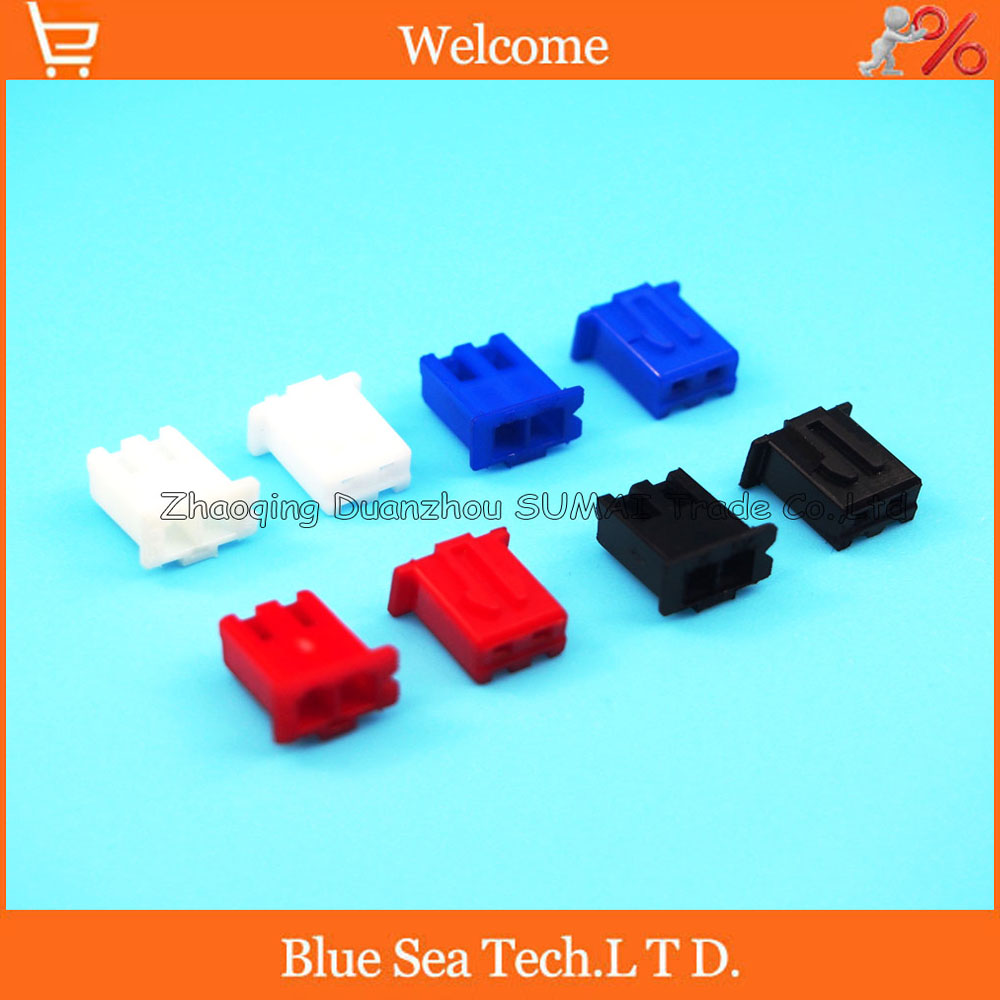2 Pin female connector plug without Pin ,2.54mm XH-2P plastic connector for PCB/electronic circuit ect.Red,Black,Yellow,Blue 5pcs ps 2 6p mini din plug female pcb mouse keyboard connector black