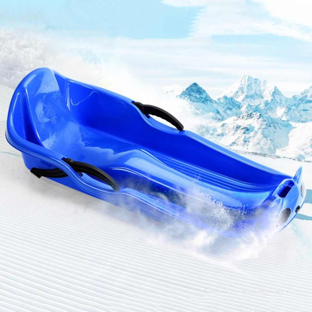 JHO Plastic Outdoor Toboggan Snow Sled for Child Green 25 6