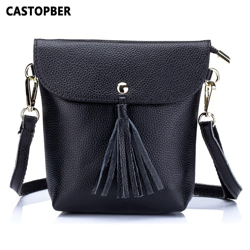 Women Tassel Bags Shoulder Bag Messenger Fashion Designer Crossbody Handbag Cowhide Genuine Leather Female High Quality Famous цена