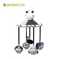 Hot Sale Kawaii Calf Umbrella Baby Rattle Brand Baby Toy Plush Stuffed Newborn Infant Musical Mobile