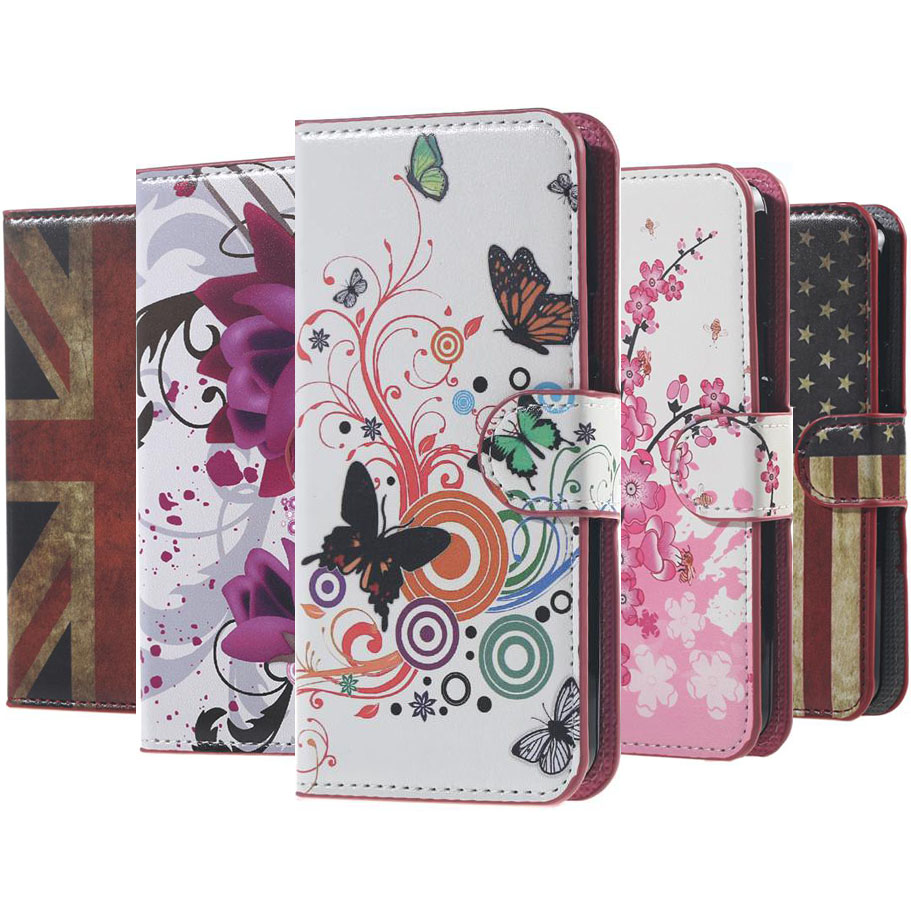 For Nokia Lumia 520 Case Cover Butterfly Flower Flip PU