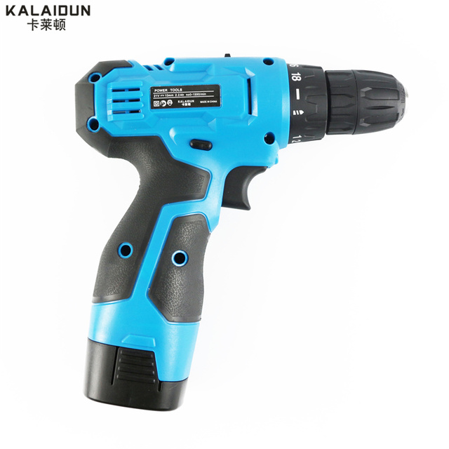 KALAIDUN 21V Mobile Electric Drill Power Tools Electric Screwdriver Lithium Battery Cordless Drill Mini Drill Hand Tools 2