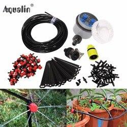 25 m jardín DIY riego automático sistema de riego por goteo jardín auto Kits de riego con goteo ajustable # 21025i