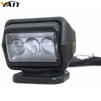 Yait 7inch remote control 360 degree rotation light 12V spotlight 60w led search light for boat marine offroad Driving searching