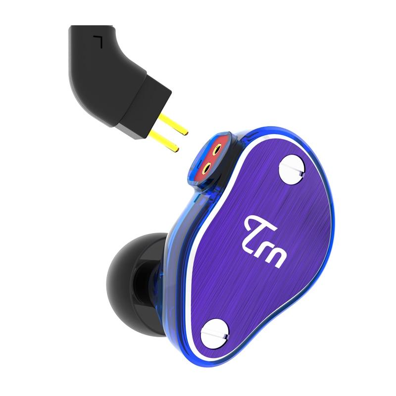 New 4DD+2BA Detachable DIY Universal Headphones Stereo Bass HiFi Dynamics Hybrid Sport Earphone with Mic Bluetooth Upgradeable