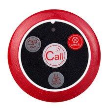 Tivdio беспроводной пейджер кнопка вызова колокол кнопку вызова передатчик для система вызова ресторанного оборудования F3285C