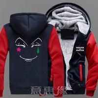 New Winter Jackets Coats Hunter X Hunter hoodie Anime GON FREECSS Hisoka Hooded Thick Zipper Men Sweatshirts