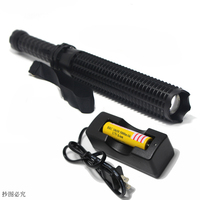 2000 Lumen Zoom Led Flashlight 18650 Or AAA Tactical Police Torch Long Light Lamp Lighting Lantern