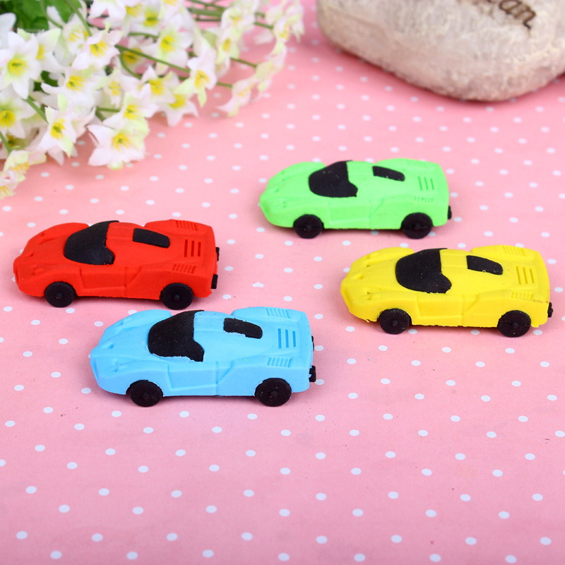 Creative Cute Kawaii Car Rubber School Erasers For Pencil Kids Gift Novelty Item Korean Stationery Student 2255
