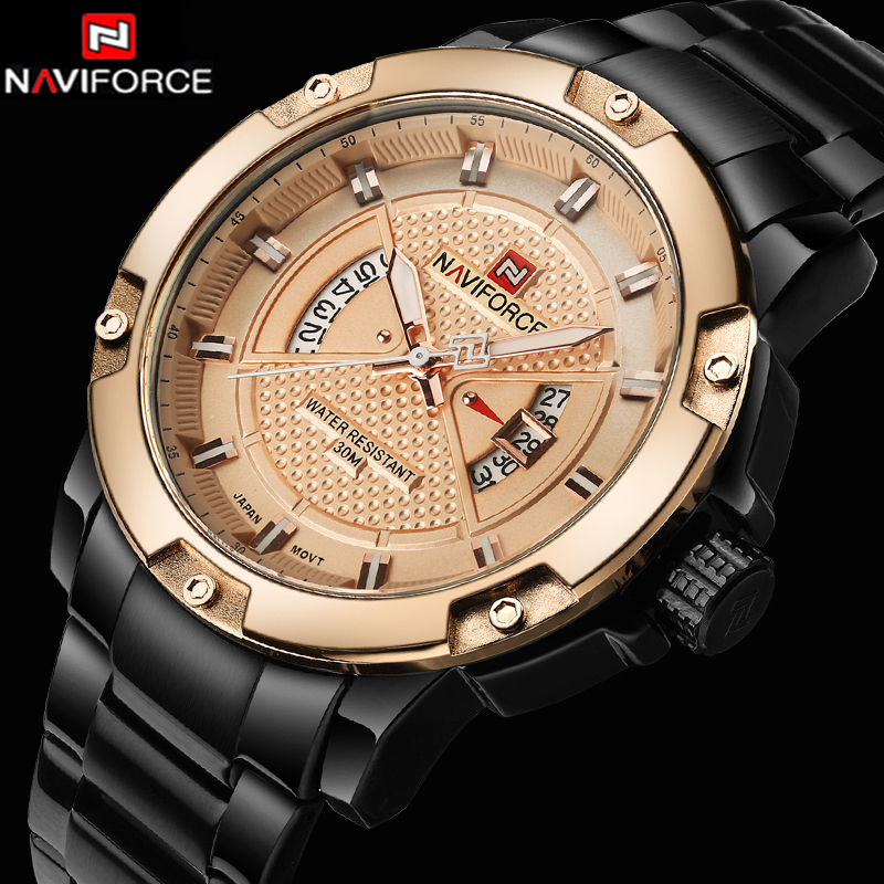 Top Brand Luxury Men Military Wrist Watches NAVIFORCE Men Watches Full Steel Men Sports Watch Waterproof Relogio Masculino