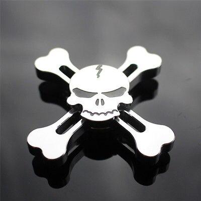 Skull Fidget Spinner Fidget Toy EDC Hand Finger Desk Focus Torqbar Metal Gyro Mini Gift For