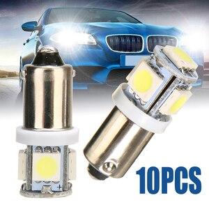 Image 1 - For Car Lighting 10PCS/Lot T11 BA9S 5050 5 SMD LED White Light Bulb Car light Source Car 12V Lamp T4W 3886X H6W 363 Mayitr
