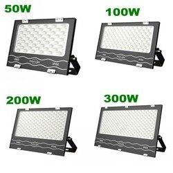 Lâmpada led para inundação, 1 peça, 220v, 50w, 100w, 200w, 300w, 400w, lâmpada led smd ip65 para estacionamento da construção noturna interior/exterior