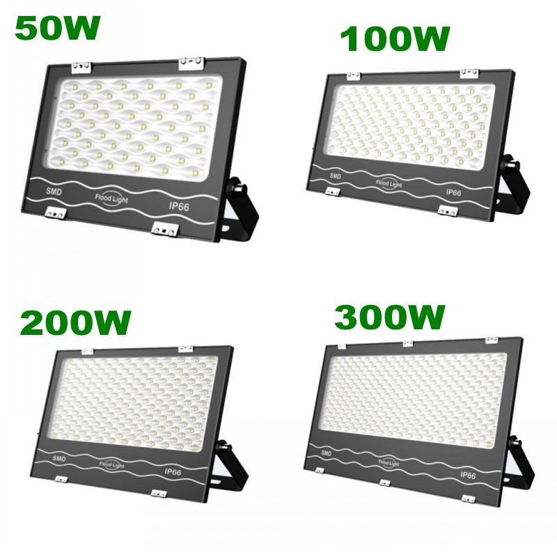 1pc 220V 50W 100W 200W 300W 400W Bouwlamp Led Flood Light Spot Lamp SMD IP65 for Night Construction Parking Indoor/Outdoor Deco