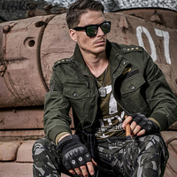 LetsKeep 2017 New Spring Army Men Bomber Jacket Military Tactical Jackets Coat With Epaulet Mens Casual