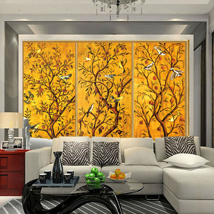 Buy vintage wallpaper custom 3d wall for 3d interior wall murals