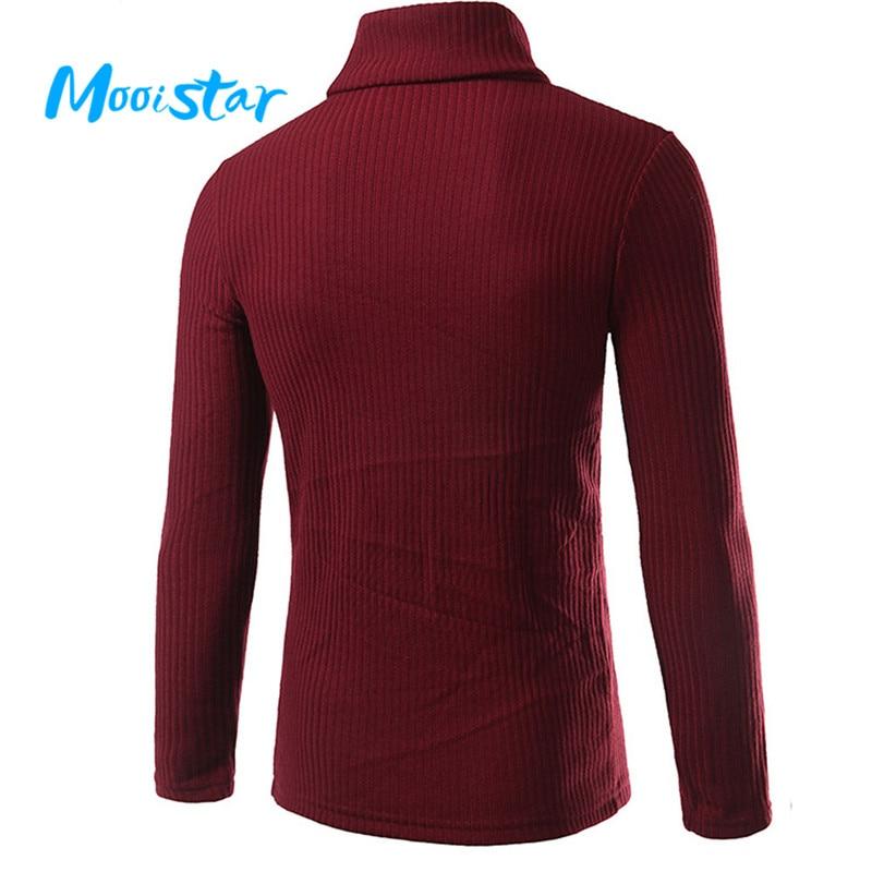 Mooistar #L030 Mans Fashion Casual High-collar Mens Sweaters Tops Blouse