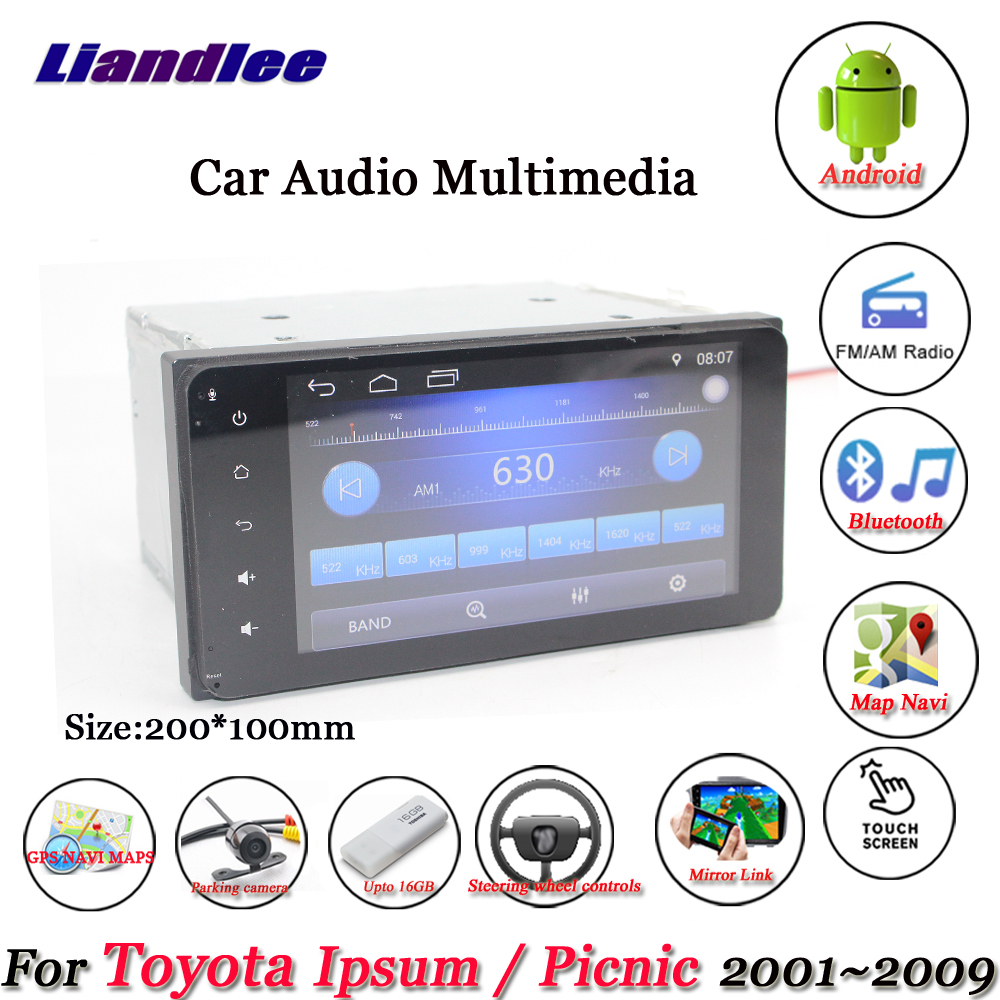 Liandlee Car Android System For Toyota Ipsum / Picnic 2001~2009 Radio Stereo Camera BT GPS Navi MAP Navigation Screen Multimedia liandlee car android system for toyota ipsum picnic 2001 2009 radio stereo camera bt gps navi map navigation screen multimedia