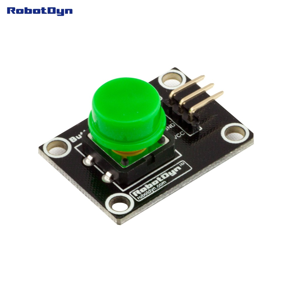 Button Key Switch Module (GREEN). With LED Light Of Action.
