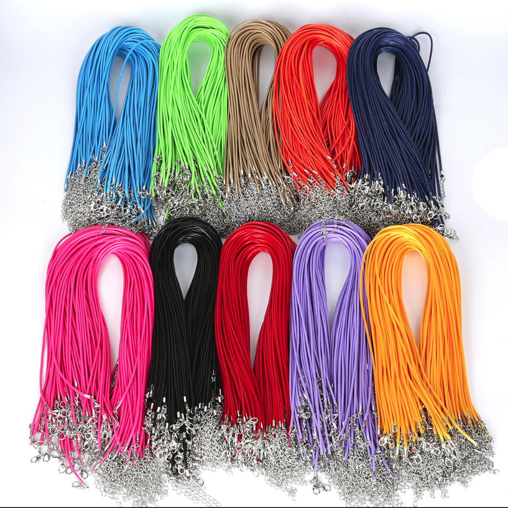 Rope-Bead String-Strap Cord Necklace Fit-Bracelet Waxed-Thread Polyester Wholesale 10-Strands/Pack