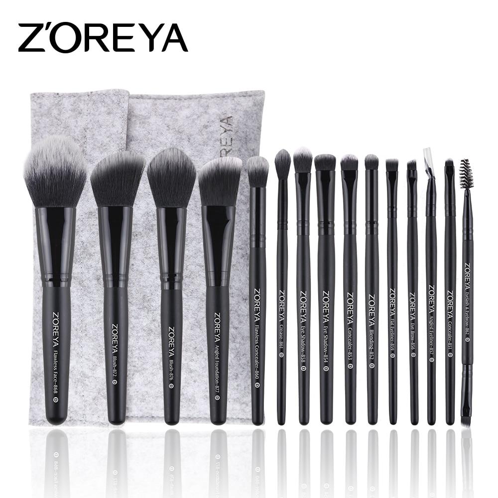 ZOREYA Makeup Brushes 4/8/10/12/15/16pcs Professional Makeup Brush Set Many Different Model As Essential Cosmetics Tool