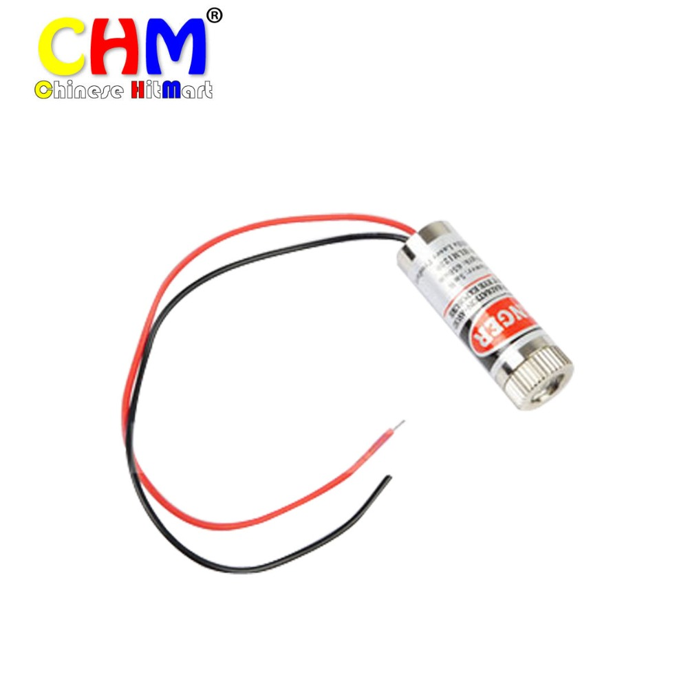 HLM1230 Focusable 650nm 5mW Red Laser Module Cross for presentations measurements DIY projects 50pcs #J034-2
