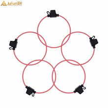 5 pcs Fuse Holder 14 AWG GA. Mini Blade In-Line Copper Wire For 12V Car Auto Loop gauge wire
