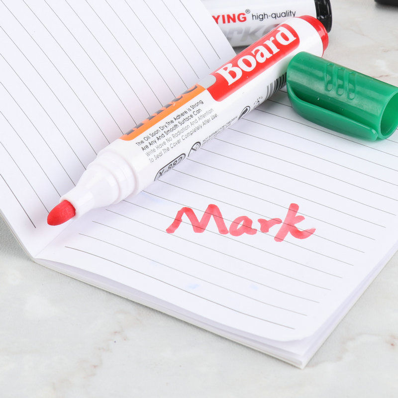 5Pcs//Set Whiteboard Erasable Dry Erase Marker Pen With Eraser School Suppl PNE