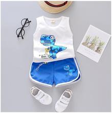 2019 Summer Baby  Boys Clothing Sets Infant Clothes Suits Cotton Cartoon T Shirt Shorts Kids Children Casual Suit цена 2017