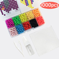 1000pc Water beadbond aqua beads jouets perler beads toys pegboard hama Pixels magic beads jigsaw kid puzzle educational toy