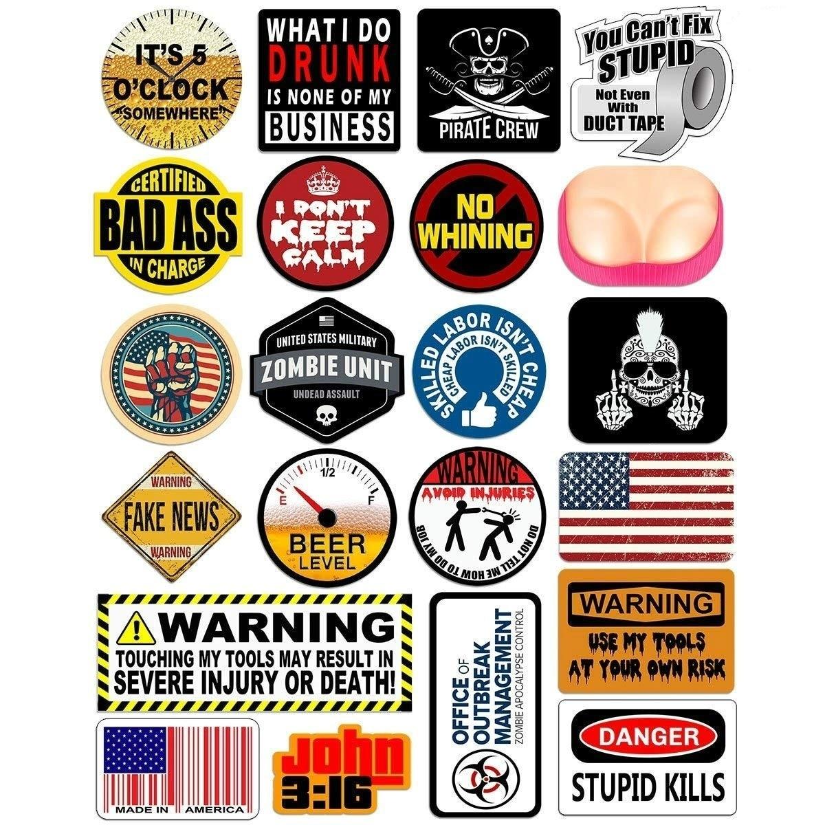USA Hard Hat 19 pcs Tool Box Stickers Best of Union American Flag 1 Set