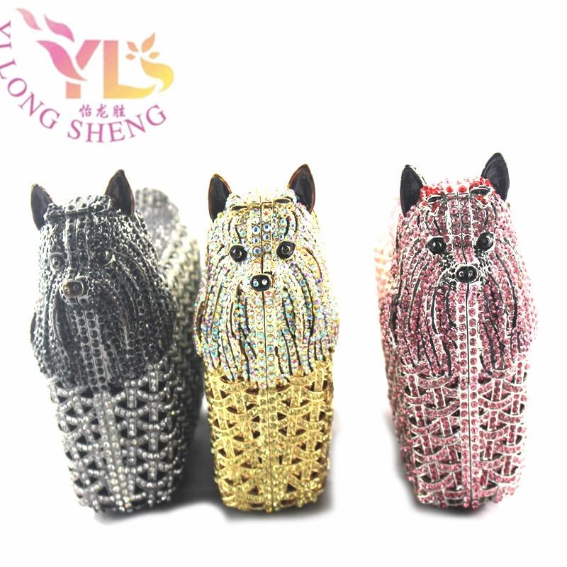 Women Crystal Evening Purse Stylish Crystal Dog Evening Bag Rhinestone Evening Party Clutch Handbag YLS-A08 механизм сливной alca plast a08