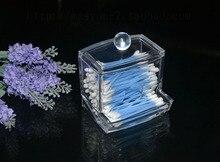 New Design Clear Acrylic Cotton Swab Box Q tip Storage Holder Cosmetic Makeup tool Women Storage