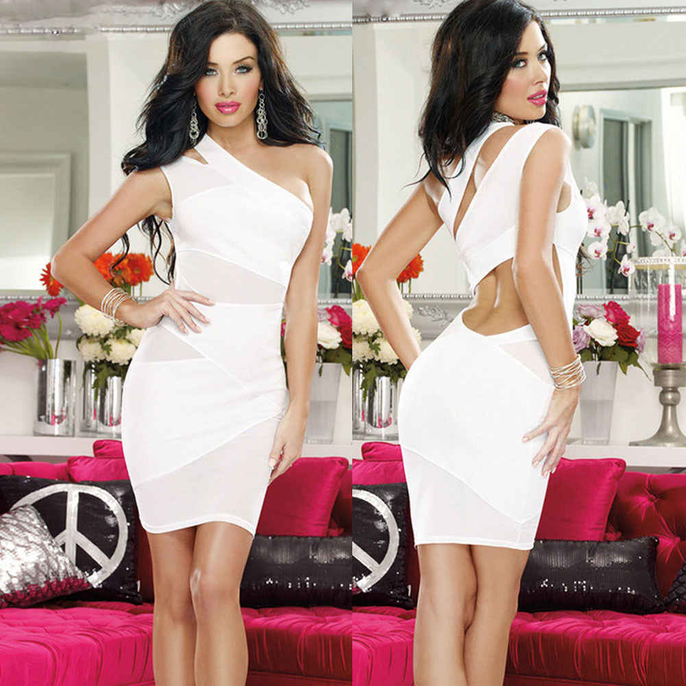 0b91df4fdaa Fashion Sexy Women Ladies Dresses Summer Sleeveless Backless Mini Dress  Black Purple White Party Club Sheath