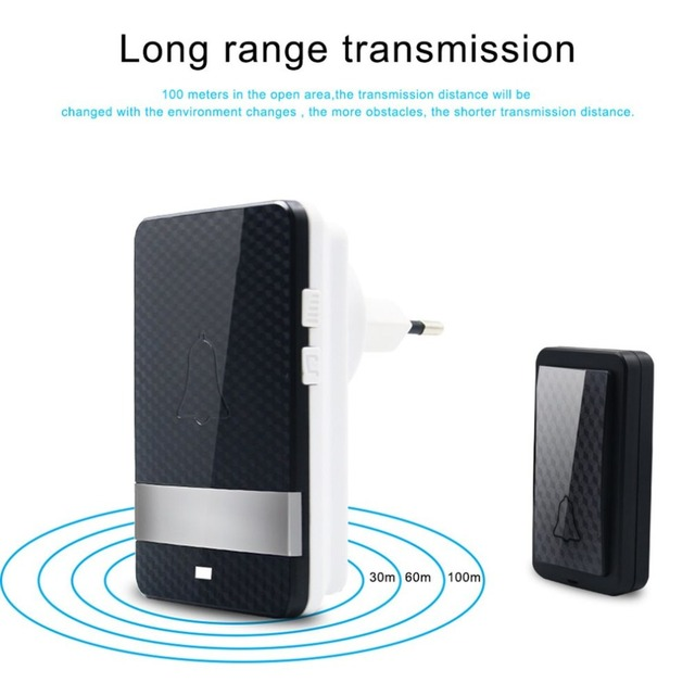 Waterproof Wireless Dingdong Doorbell Self powered 28 ...