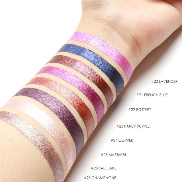 FOCALLURE Makeup Colorful Waterproof Shimmer Lipstick Matte Lipstick Metal Style  Cosmetic 2