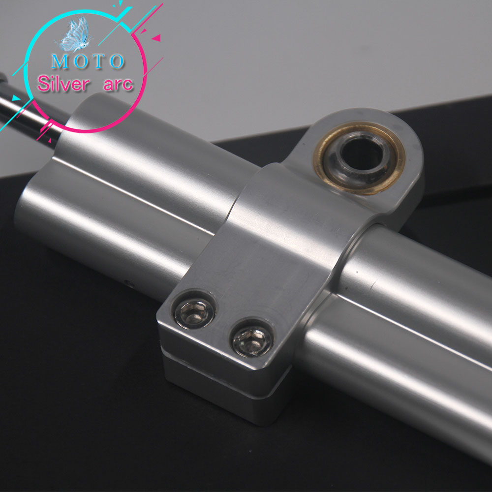 CNC Алюминий Регулируемый мотоциклы рулевого управления стабилизации гаситель кронштейн комплект для YAMAHA YZF R6 2006-2016/R1 2009 -2012 серебро