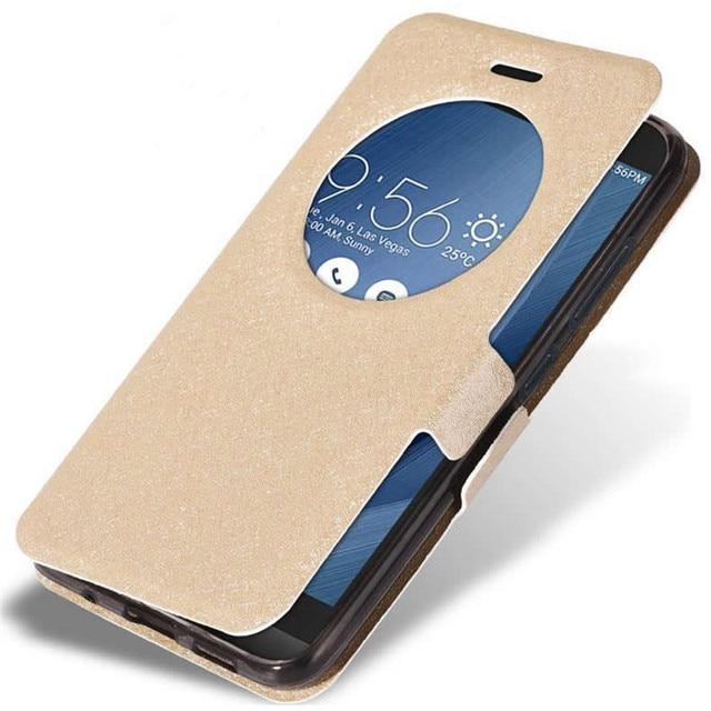 Asus Zenfone 3 ZE520KL Case Op Asus Zenfone 3 4 Deluxe ZE552KL ZS570KL ZE554KL Cover Luxe Flip Window Originele Lederen case