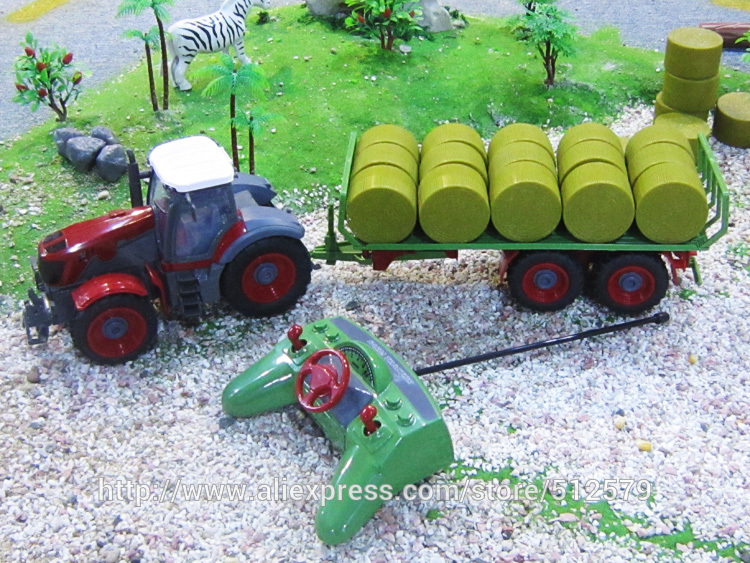 Kingtoy Detachable Remote control Big Digger Size Kingtoy fun 1:28 Multifuncional rc farm trailer tractor truck free shipping