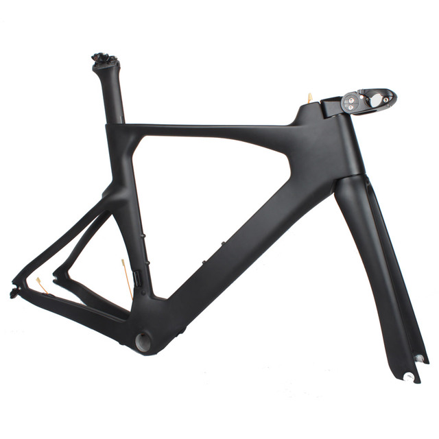 OEM Carbon Time Trial TT Bike Frame Set With Adjustable Stem Carbon Triathlon Bike Frame 52/54/56cm Free Shipping