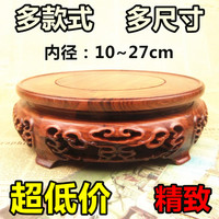 Package in some areas of the unicorn rosewood crafts vase flower Buddha jade stone round base boutique