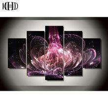 MHD Beautiful flowers 5d diy Diamond painting round diamond cross stitch 1 set of 5 pieces mosaic home