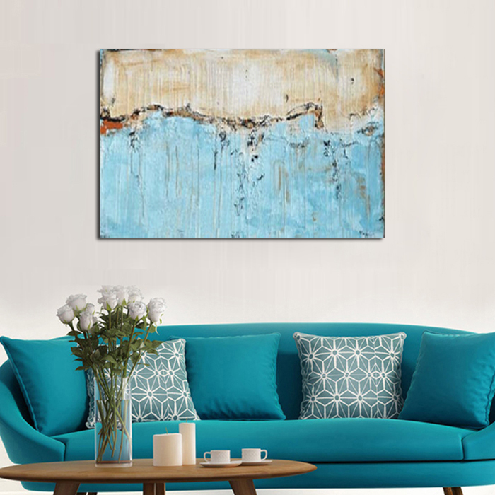 Painting Kitchen Living Room Connected: Modern Abstract Art Painting Kitchen Landscape Wall Living