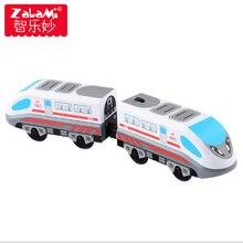 Kid Olcsó Játékok Távirányító RRC Train Set Mozdony Telecontrol Nagy sebességű vonat vasúti fából készült vasúti játékokhoz