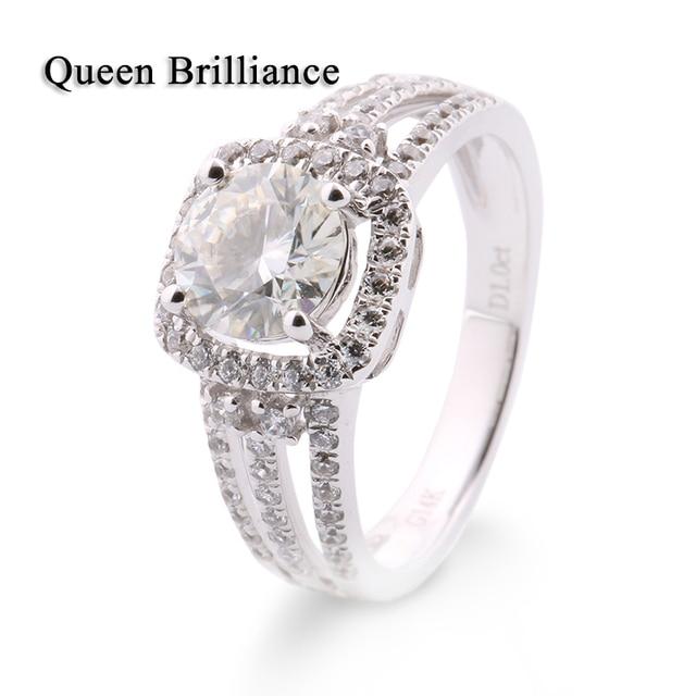Bien-aimé Bague Gros Diamant Super Luxueux 1Ct GH Couleur Mariage De  ZD64
