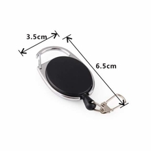 KAWO Fly Fishing Accessories Fishing Zinger Retractable Key Ring Holder Extractor Stopper Keeper Reel Badge Fishing Tackle