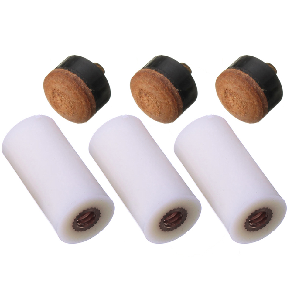 """30 Pieces Cue Tips Screw-on Hard Leather Billiard Pool Stick Replacements-13mm /"""""""
